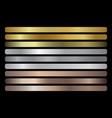 gold silver bronze gradients set vector image vector image