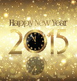 golden happy new year background vector image vector image
