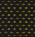 golden monogram seamless pattern on black vector image vector image