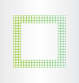 green eco frame abstract background vector image vector image