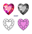Heart gem cut vector image vector image