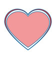 heart love decoration icon vector image vector image