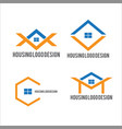 housing logo design and building logo vector image vector image