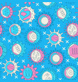 human viruses seamless pattern in line style vector image vector image