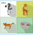 Icons with African animals vector image vector image