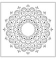 islamic mandala sketch for coloring vector image vector image