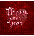 Lovely greeting happy new year card vector image vector image