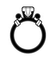 luxury ring with diamond vector image vector image