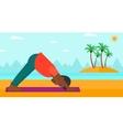 Man practicing yoga vector image vector image