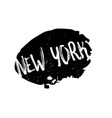 new york rubber stamp vector image vector image