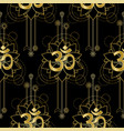om and lotus gold seamless pattern vector image vector image