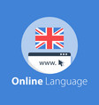 online language learning linguistic courses vector image