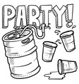 Party and beer vector image