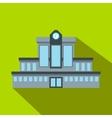 Railway station flat icon vector image vector image