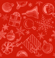 red christmas background seamless tiling vector image vector image