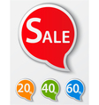 red sale speech bubble vector image vector image