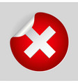 red x cross mark icon cancel flat symbol in vector image vector image