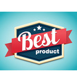 retro badge best price vector image vector image