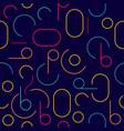 Retro colorful seamless circle pattern