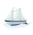 sea sailboats ship water carriage and maritime vector image vector image