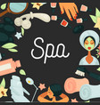 spa procedures skincare and beauty salon service vector image vector image