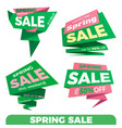 spring sale sale label price tag banner badge vector image vector image