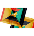 square shape geometric abstract background vector image vector image