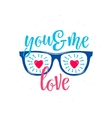 sunglasses with hearts in vector image