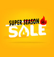 super season sale shopping offer layout up to 80 vector image vector image