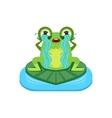 Tearful Cartoon Frog Character vector image vector image