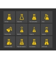 Test flask for education icons vector image