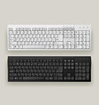 white and black computer keyboards vector image