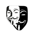white mask anonymous vector image