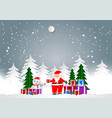 winter season with santa and gift boxes for vector image