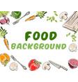 food background banner vector image