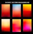 abstract colorful sunset template vector image