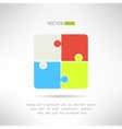 Two on two puzzle icon Riddle concept vector image