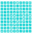 100 energy icons set grunge blue vector image vector image