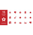 15 favorite icons vector image vector image