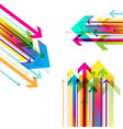 abstract colored background with arrows vector image vector image
