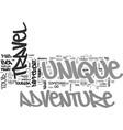 adventure tourism unique adventure tours text vector image vector image