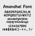 amandhel alphabet character typography vector image vector image
