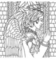 angel young man vector image vector image
