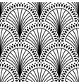 art deco pattern black white background vector image vector image