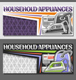 banners for household appliances vector image
