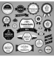 Black sale labels set vector image vector image