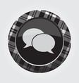 button white black tartan - two speech bubbles vector image vector image