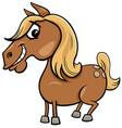 cartoon horse or pony farm animal character vector image vector image