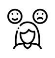 changeable mood symptomp of pregnancy icon vector image
