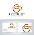 coffee and bean logo vector image vector image